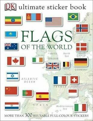 NEW Flags of the World Ultimate Sticker Book By DK Paperback Free Shipping