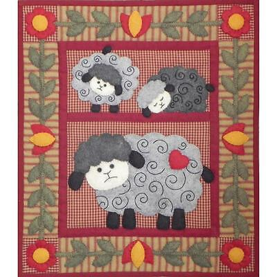 Twin Lambs Wall Quilt Kit by Rachel's of Greenfield Finished Size 13in x 15in