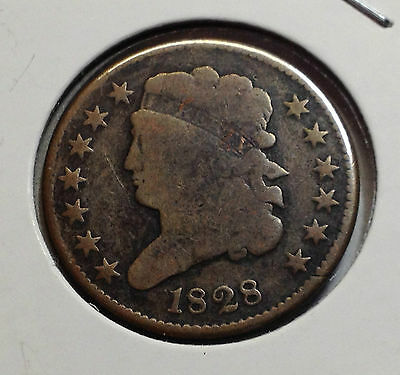 1828 13 Stars Classic Head Half Cent Nice Old Type Coin