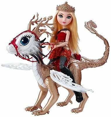 Ever After High Dragon Games Apple White Doll and Braebyrn Dragon (DKM76) NEW