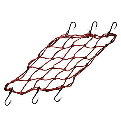 Bike It Motorcycle Cargo Net Super Strong 6 Hook Extra Large In Red