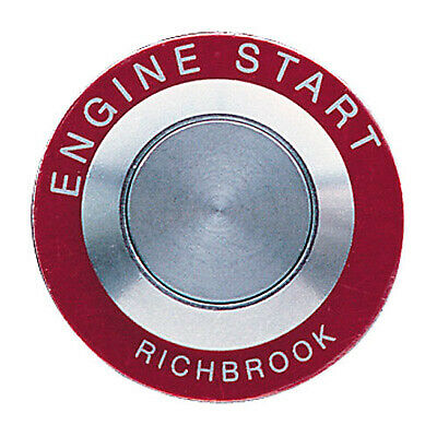 Richbrook Pro-Start Stainless Steel Race Car Style Ignition Button & Bezel - Red