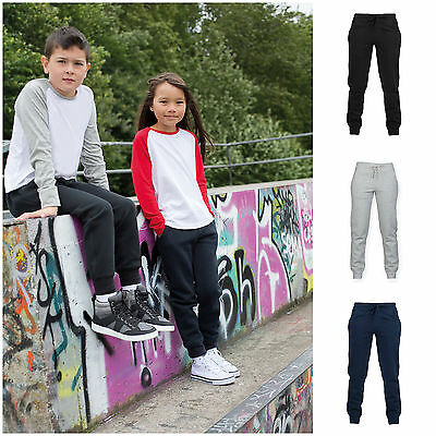 Boys Girls Jogging Pants Plain Joggers Slim Fit Sweat Pants Kids Ages 5-12 Yrs