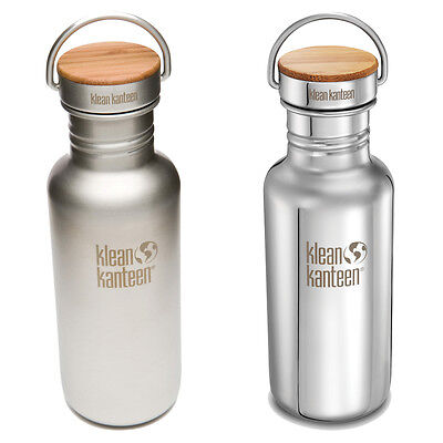 Klean Kanteen - Classic Reflect 532ml Drink Bottle - Bamboo Cap - FREE Delivery!