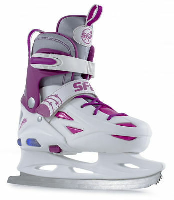SFR - Eclipse Light Up Ice Skate - White/Pink - Figure Blade - New In Box