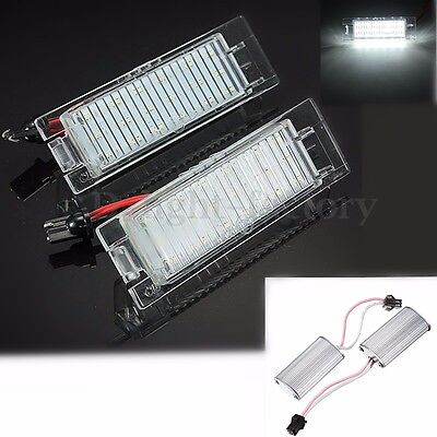 2x License Number Plate LED Light For Vauxhall Opel Astra Corsa Signum Vectra