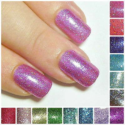 Hand Painted Full Cover Nails Glitter Press On Stick Glue On Fake Acrylic Nails