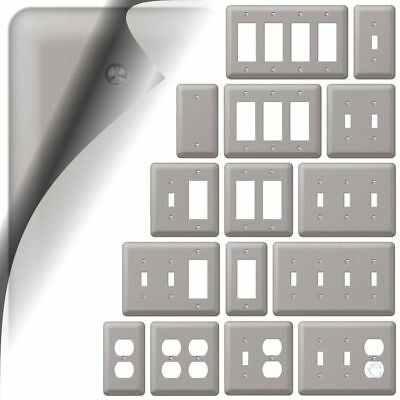 Wall Switch Plate Cover Devon Brushed Nickel Outlet Toggle Decora Rocker Metal