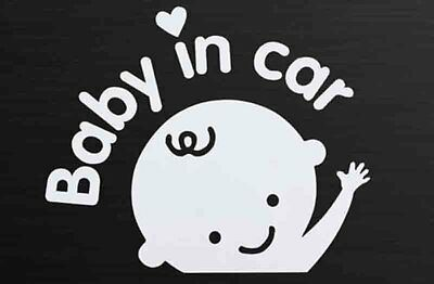 Lovely Waving Emblems Baby in car Car Sticker Waterproof Safety Sign Car Decal