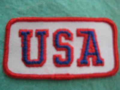 "Vintage U.S.A. United States Of America     Patch Sew On 2 3/8"" X 1 3/4"""