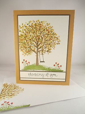 """Stampin Up """"Sheltering Tree"""" Handmade Any Occasion Card"""