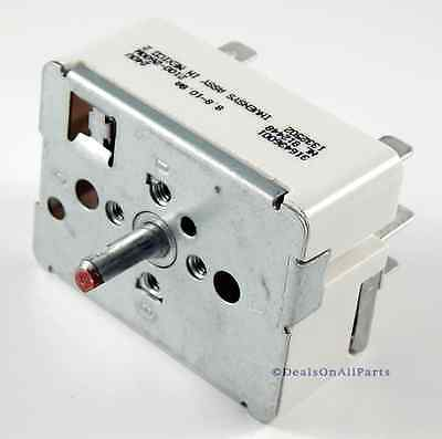 Surface Element Switch for Frigidaire Tappan Oven Range Stove 316436001