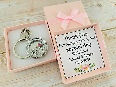 Personalised Wedding Bride Bridesmaid Keepsake Gift Keyring + 2018