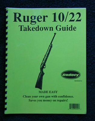 Ruger  1022  10/22   Rifles  Assembly Disassembly Takedown Guide Radocy  NEW