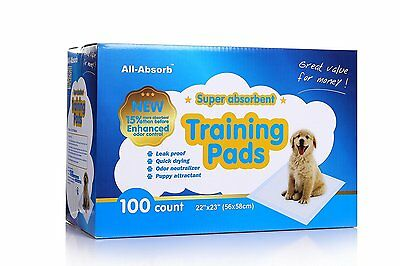 All-Absorb Training Pads,22-incBy23-inc Size:100-Count Quick drying surface  A01