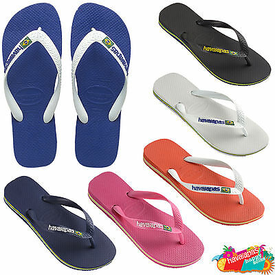 29923cbce Havaianas Flip Flops Brasil Logo Top Unisex Summer Beach Sandals Thongs