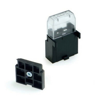 2 x 1 way Standard Blade Single Fuse Holders / Boxes  + Covers + Plate