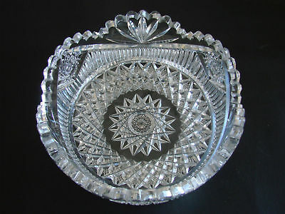Exceptional American Brilliant Cut Glass Bowl Chip Free