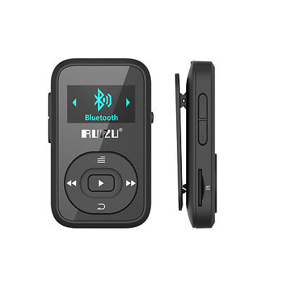 Lettore MP3 Bluetooth, Mini Clip da 8 GB, schermo OLED con Radio FM + Auricolari
