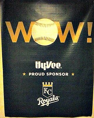 "SET OF 4 KANSAS CITY ROYALS 2015 WORLD SERIES CHAMPS 45""x35 BANNER POSTERS SIGNS"