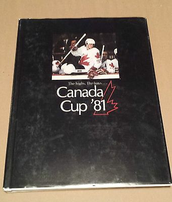 BOOK: CANADA CUP '81, THE HIGHS..THE LOWS, HARD COVER, w/DUST COVER, HOCKEY