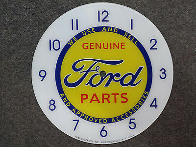 "*NEW*14.25/"" CHEVY CHEVROLET BOWTIE HOTROD ROUND GLASS FACE FOR PAM CLOCK"