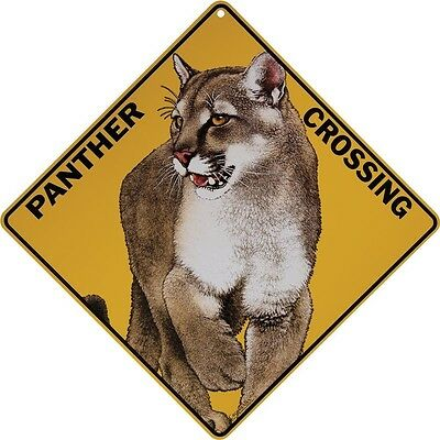 "PANTHER Crossing Sign, 12"" on sides, 16"" on diagonal, Indoor/Outdoor Use"