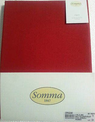 SOMMA 1867 sottolenzuolo con angoli rote Farbe Made in Italy