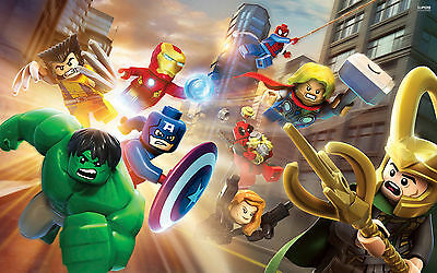 Lego Marvel Avengers  Picture Poster - Wall Art - 4 sizes to choose from!