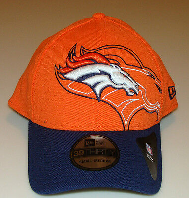 New Era Hat Cap NFL Football Denver Broncos Outliner Classic 39THIRTY L/XL Flex