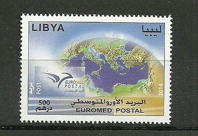 2014 - Libya- Euromed postal, Joint & common issue