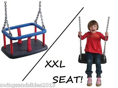 Baby Commercial Heavy duty rubber swing seat Playground with chain FREE PP!
