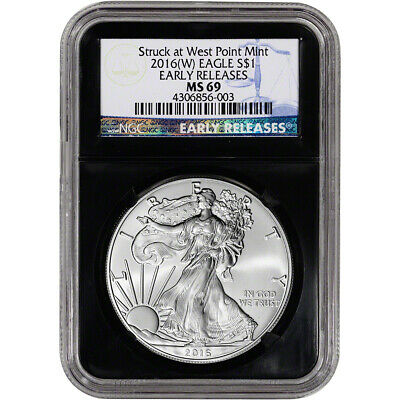 2016-(W) American Silver Eagle - NGC MS69 - Early Releases - Retro Black Core