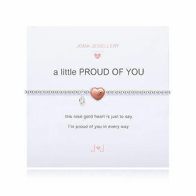Joma Jewellery Girls a little Proud Of You CHILDRENS rose gold heart bracelet