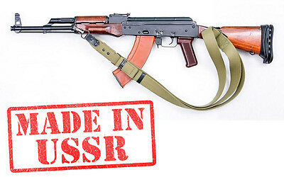 Original USSR AK-74 AK-47 strap weapon Vintage Soviet rifle carrying WWII belt