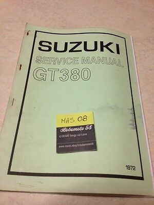 Suzuki GT 380 GT380 1972 manuel entretien atelier workshop service manual