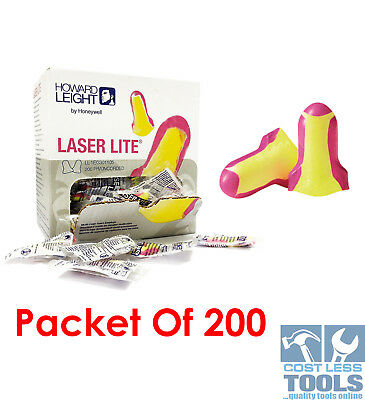 Howard Leight Laser Lite Uncorded Ear Plugs 200 Pack  LL-1
