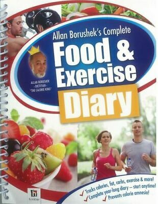 NEW Allan Borushek's Complete Food and Exercise Diary By Allan Borushek