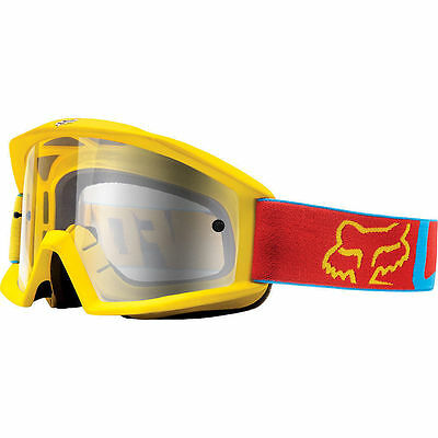Fox  Main Mx Moto Gear Vandal Blue Yellow Motocross Dirt Bike Enduro Goggles