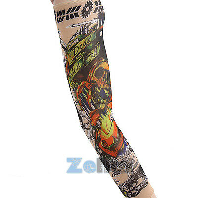Men Boy Cool Cycling Bicycle Arm Cuff Sleeve Cover Outdoor UV Sun Protection