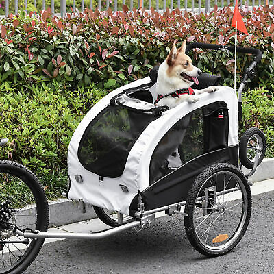 AOSOM 2 IN 1 Pet Trailer Dog Cat Bike Bicycle Trailer Stroller Carrier