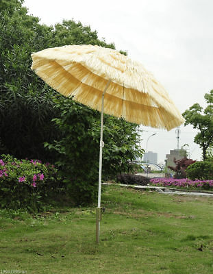 Outsunny 6ft Wide Thatched Beach Umbrella Outdoor Patio Yard Tilt Shades Market