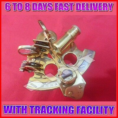 Solid Brass Sextant Nautical Maritime Astrolabe Marine Gift Ships Instrument a37