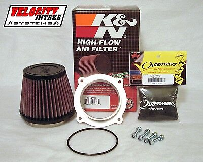 LTR450 Billet Air Filter Kit with K&N Filter & FREE Outerwears, Velocity Intake