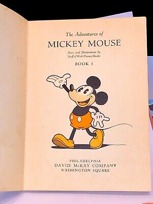 New Old Stock 1931 Comic Book 1st Edition Disney The Adventures  Mickey Mouse