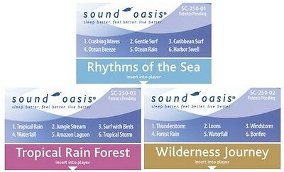 Sound Oasis 3 Sound Therapy Expansion Sound Cards Sea, Rain, Wilderness