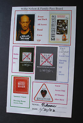Willie Nelson & Family 2002 Fillmore Back Stage Pass Identification Board