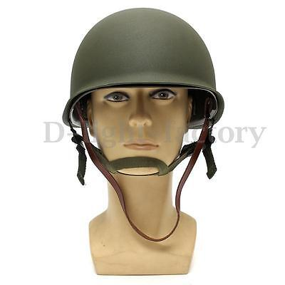 WW2 U.S Military Steel M1 Helmet With Netting Cover WWII Army Equipment New