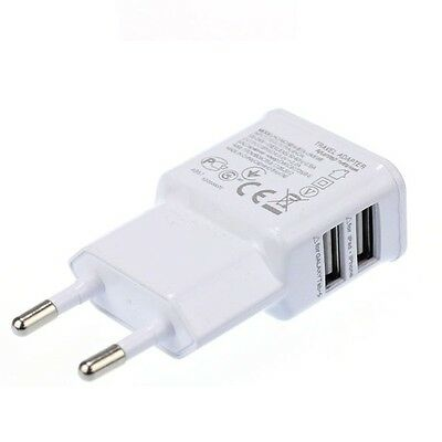 12W 2.1A 2 Ports USB Travel Charger Adapter EU for Samsung Tab PC iPad