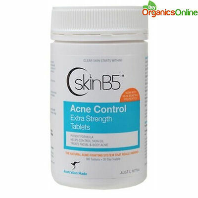 Skin B5 Acne Control Extra Strength 180 Tablets by SkinB5
